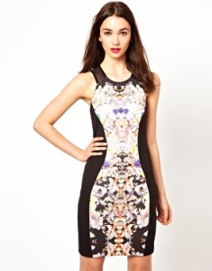 Floral Bodycon Dress from Asos